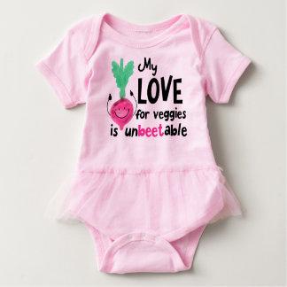 Positive Beet Pun - My Love for Veggies Baby Bodysuit