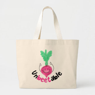 Positive Beet Pun - Unbeetable Large Tote Bag