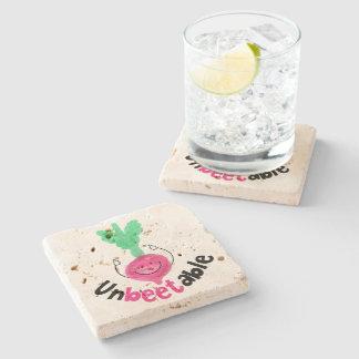 Positive Beet Pun - Unbeetable Stone Coaster