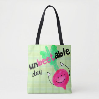 Positive Beet Pun - Unbeetable Tote Bag
