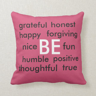 positive BEing Throw Pillow