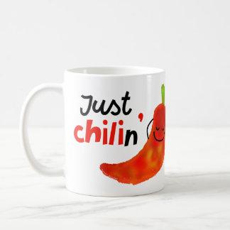 Positive Chili Pepper Pun - Just Chilin Coffee Mug