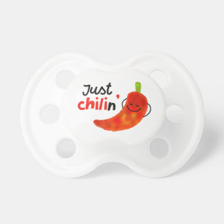 Positive Chili Pepper Pun - Just Chilin Pacifier