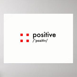 positive concept poster