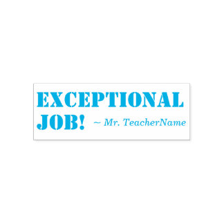"""Positive """"Exceptional Job!"""" Marking Rubber Stamp"""