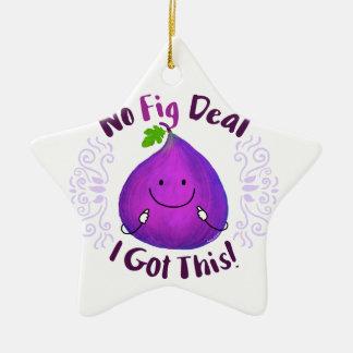 Positive Fig Pun - No Fig Deal I got this Ceramic Ornament