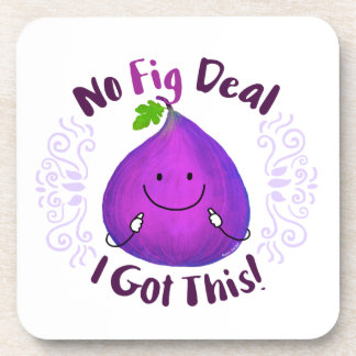 Positive Fig Pun - No Fig Deal I got this Coaster
