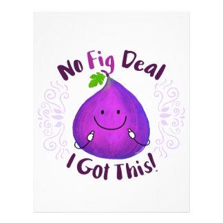 Positive Fig Pun - No Fig Deal I got this Letterhead