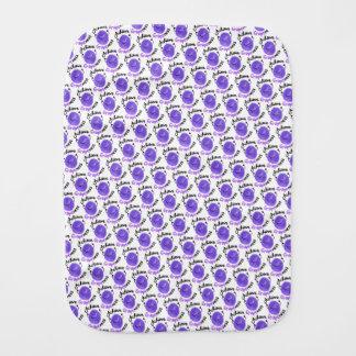 Positive Grape Pun - Achieve Grapeness Burp Cloth