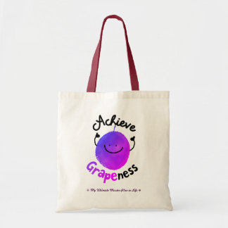 Positive Grape Pun - Achieve Grapeness Tote Bag
