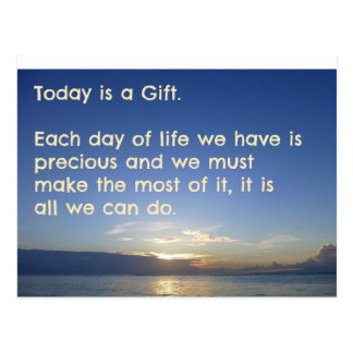 Positive Inspirational Quote Postcard - Today