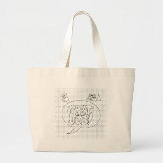 Positive Job Reinforcement Messages Large Tote Bag