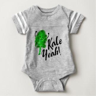 Positive Kale Pun - Kale Yeah! Baby Bodysuit