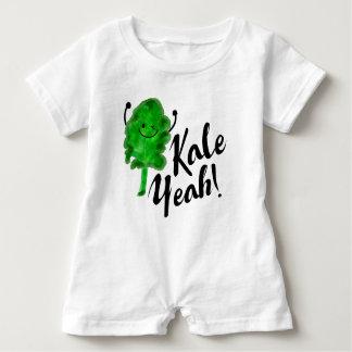 Positive Kale Pun - Kale Yeah! Baby Romper