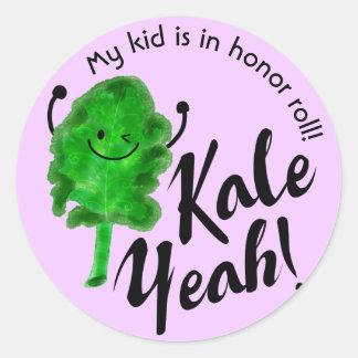 Positive Kale Pun - Kale Yeah! Classic Round Sticker