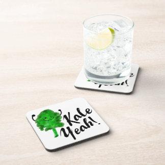 Positive Kale Pun - Kale Yeah! Coaster
