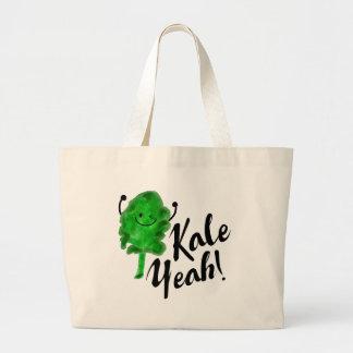 Positive Kale Pun - Kale Yeah! Large Tote Bag