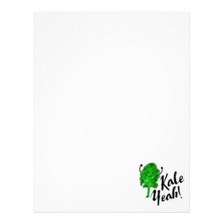 Positive Kale Pun - Kale Yeah! Letterhead
