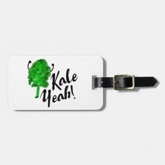 Positive Kale Pun - Kale Yeah! Luggage Tag