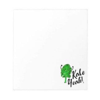 Positive Kale Pun - Kale Yeah! Notepad