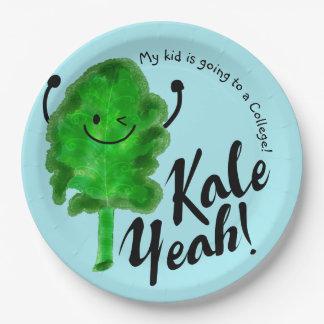 Positive Kale Pun - Kale Yeah! Paper Plate