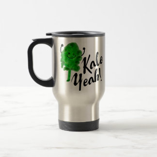 Positive Kale Pun - Kale Yeah! Travel Mug