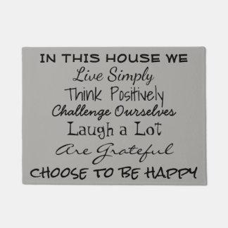 Positive Life Message - Door Mat