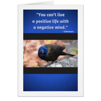 Positive Life Quote Greeting Card, Blank Inside Card