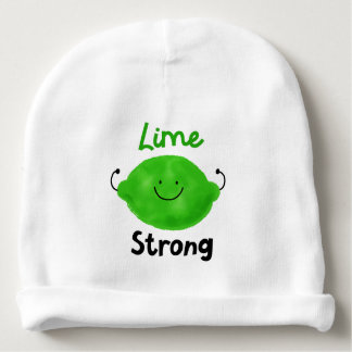 Positive Lime Pun - Lime Strong Baby Beanie