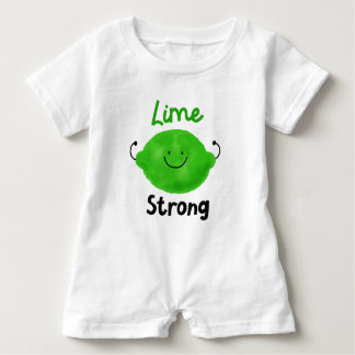 Positive Lime Pun - Lime Strong Baby Romper