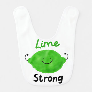 Positive Lime Pun - Lime Strong Bib