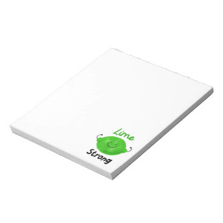 Positive Lime Pun - Lime Strong Notepad