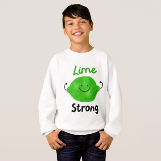 Positive Lime Pun - Lime Strong Sweatshirt