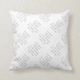 Positive lime throw pillow