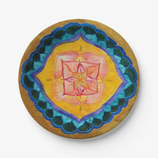 Positive mandala Custom Paper Plates 7 in