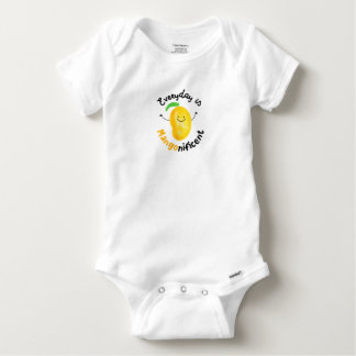 Positive Mango Pun - Everyday is Mangonificent Baby Onesie