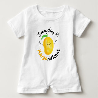 Positive Mango Pun - Everyday is Mangonificent Baby Romper