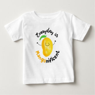 Positive Mango Pun - Everyday is Mangonificent Baby T-Shirt