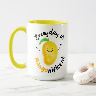 Positive Mango Pun - Everyday is Mangonificent Mug