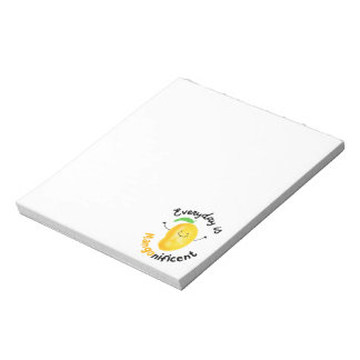 Positive Mango Pun - Everyday is Mangonificent Notepad