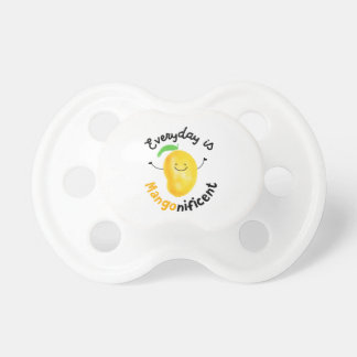 Positive Mango Pun - Everyday is Mangonificent Pacifier