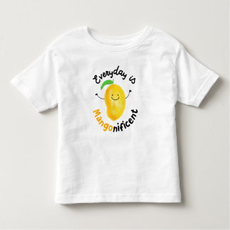 Positive Mango Pun - Everyday is Mangonificent Toddler T-shirt
