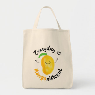 Positive Mango Pun - Everyday is Mangonificent Tote Bag