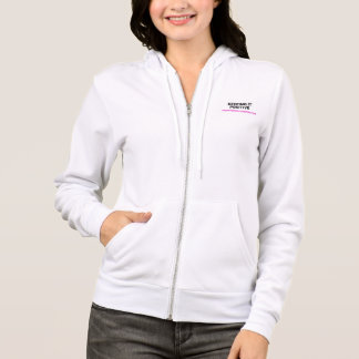 Positive Media Blitz White Zip Up Hoodie