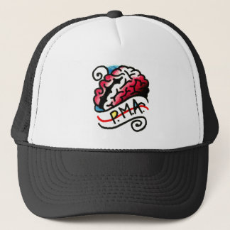 Positive Mental Attitude PMA on the Brain Trucker Hat