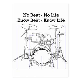 Positive message for drummers, musicians, dancers postcard