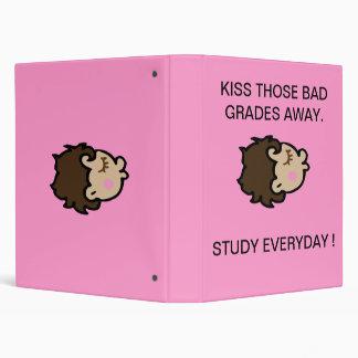 Positive message for school aged girls. vinyl binders