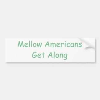 Positive message of unity bumper sticker