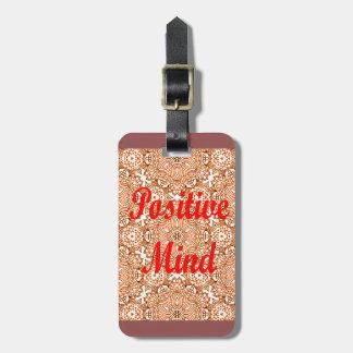 Positive Mind Bag Tag