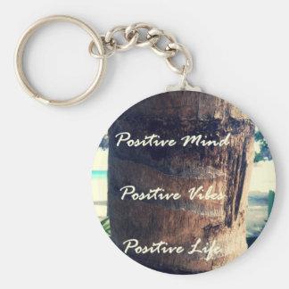 Positive Mind, Positive Vibe, Positive Life Basic Round Button Keychain